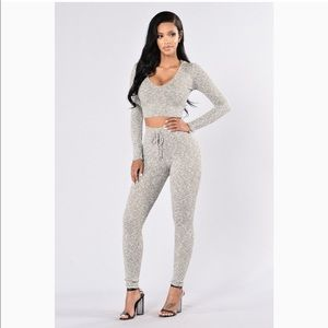 Other - Set of leggings and crop top hoodies